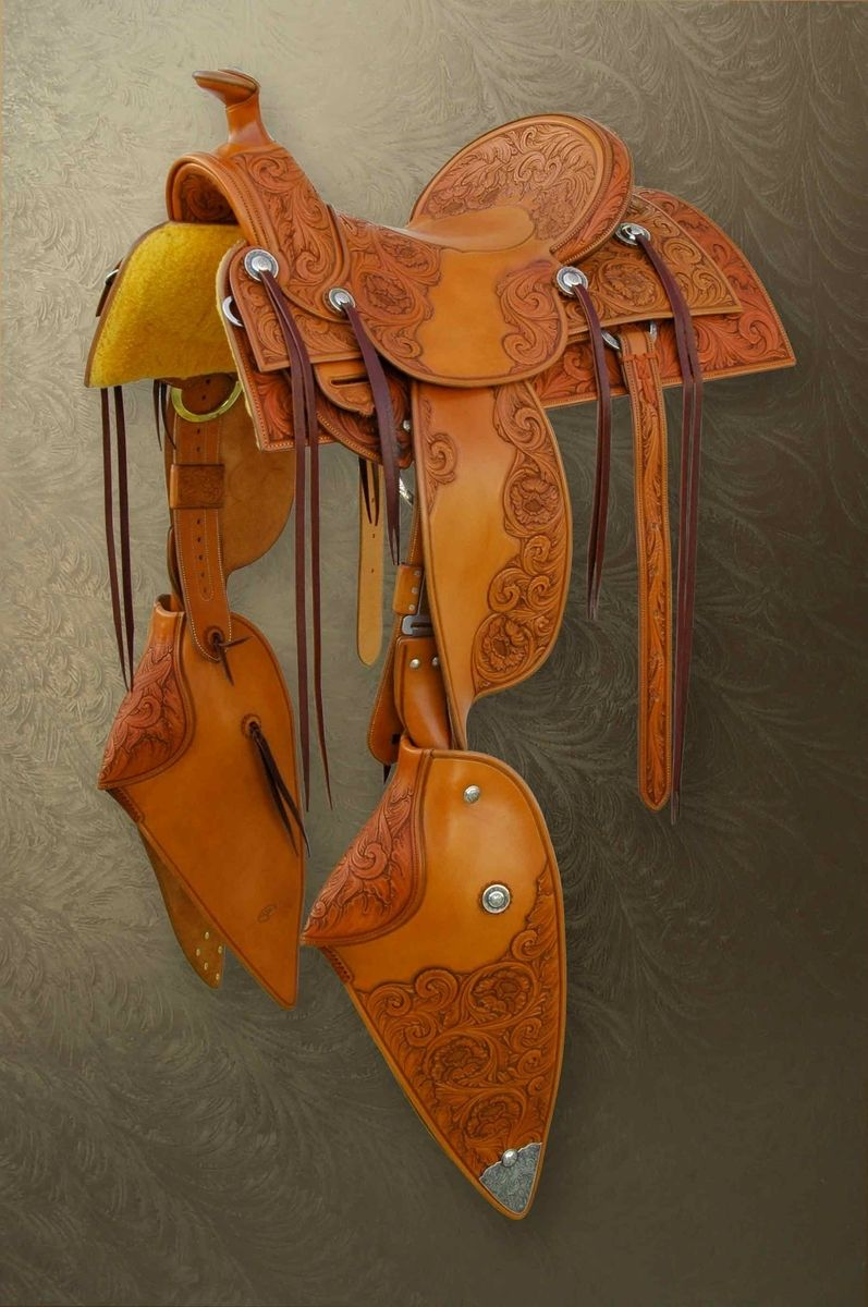 Hand Crafted Silver Mounted Saddle by Sage Creek Stock Saddle Co