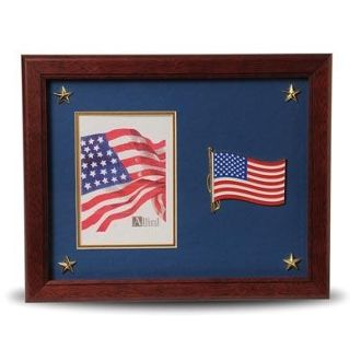 Custom Made American Flag Medallion 5 By 7 Picture Frame With Stars