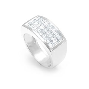 Custom Made Baguette Diamond Men's Ring