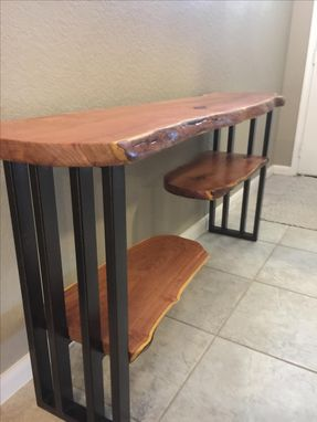 Hand Made Console Table Sofa Table Entryway Live Edge