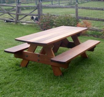Torrified Fsc Ash Heirloom Quality Picnic Table