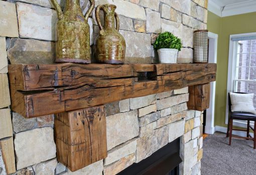 Custom Made Reclaimed Aged Mantels, 200 Year Old Timbers