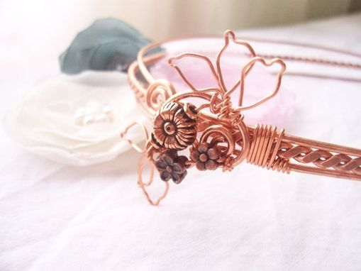 Custom Made Hand Forged Copper Wirework Headband