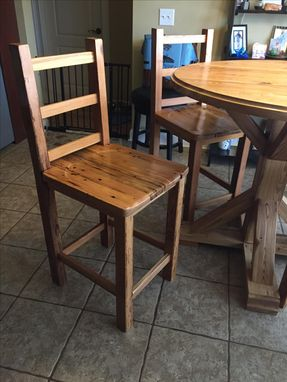 Custom Made Reclaimed Heart Pine Breakfast Table