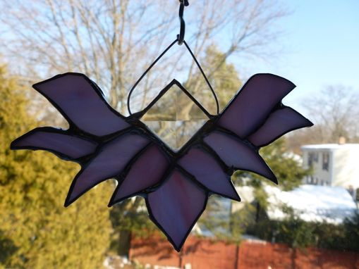 Custom Made Beveled Purple Stained Glass Lotus Flower