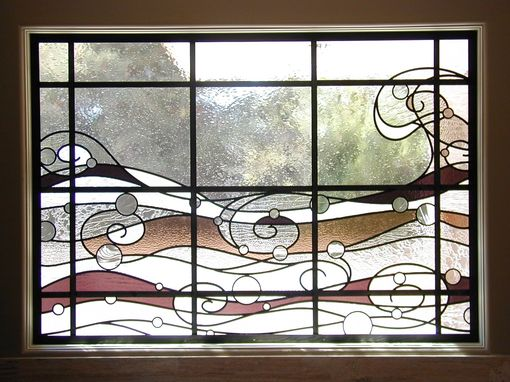 Custom Made Custom Stained Glass In Master Bathroom