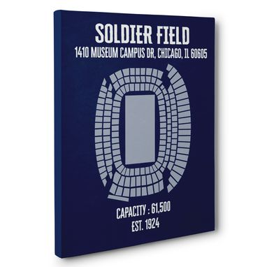Custom Made Soldier Field Canvas Wall Art – Multiple Colors