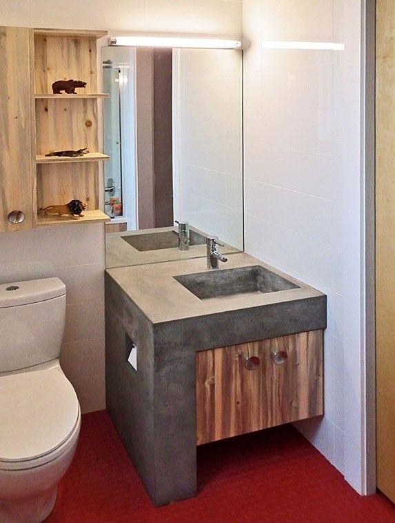 Custom Made Boulder Modern Home Bathroom