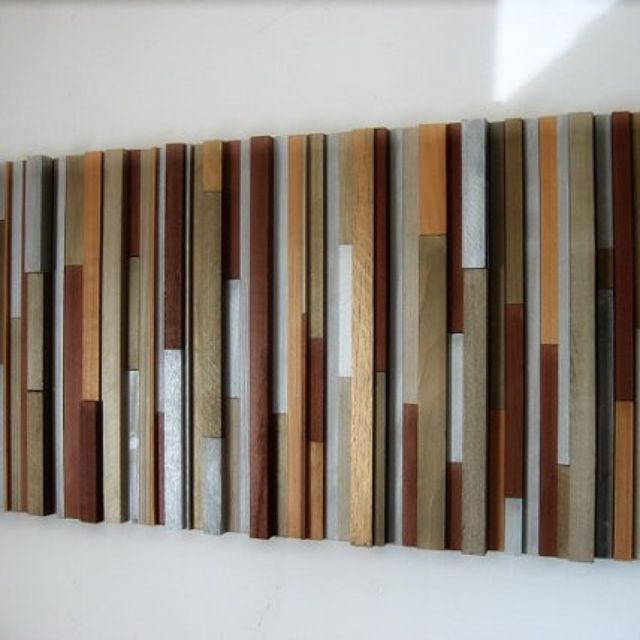 Handmade Wood Wall Sculpture By Modern Rustic Art LLC