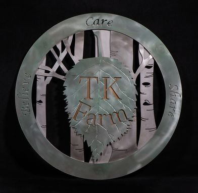 Custom Made Tk Farm Sign