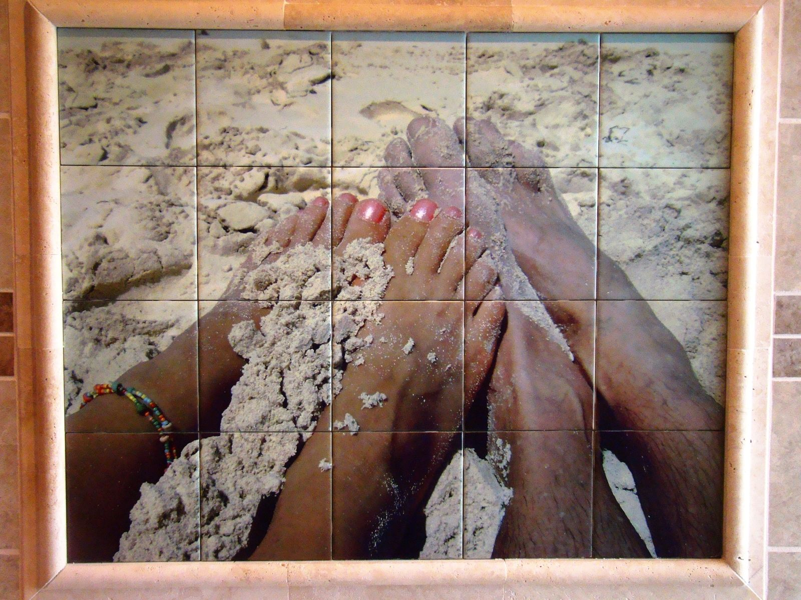 Hand Crafted Custom Ceramic Tile Mural Install 3 32 X 40 Using
