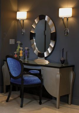 Custom Made Dressing Table And Mirror : Art Deco