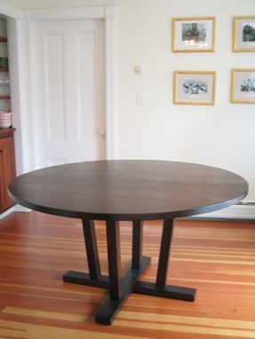 Custom Made Walnut Pedestal Table