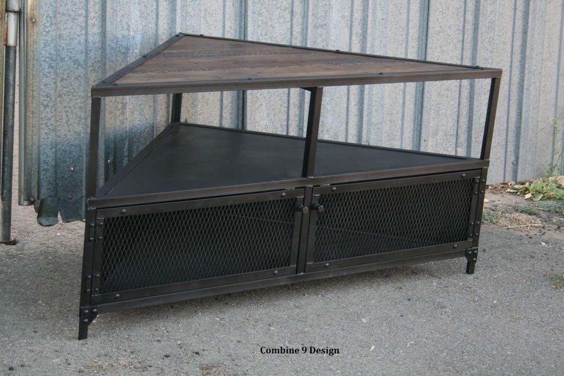 Buy a Handmade Corner Unit / Tv Stand. Vintage/Modern Industrial ...