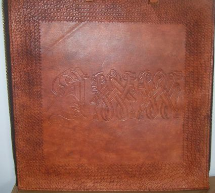Custom Made Custom Leather Mason Case With Masonic Letters