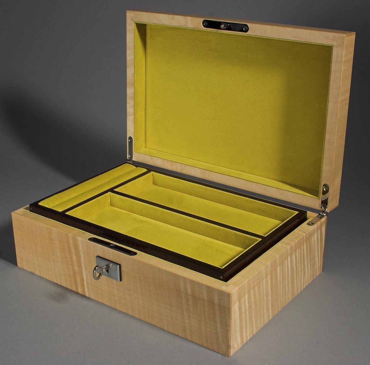 Handmade art deco jewelry box by hawthorne crafts for Custom made ring box