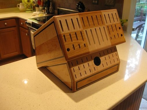 Custom Made Custom Knife Block--