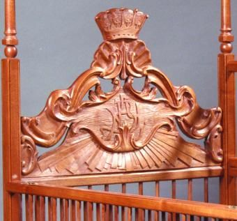 Custom Made Mahogany Baby's Bed