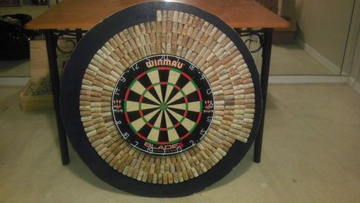Custom Made Salvaged Wine Cork Dart Boards. All Cork, No Synthetics.