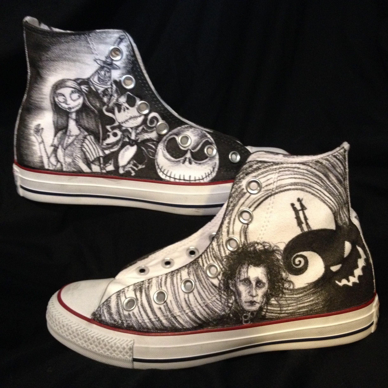 Buy Handmade Hand Drawn Custom Nightmare Before Christmas Tim Burton ...