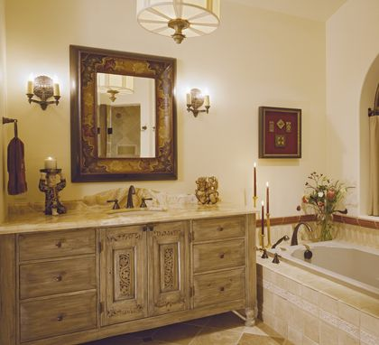 Custom Made Bathroom Vanity Cabinetry : 2nd Master Bath