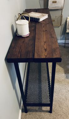 Custom Made Steel Sofa / Entryway Table