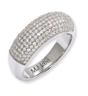 Custom Made Custom Made Fine Silver Ring With Swarovski Crystals