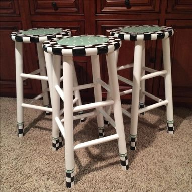 Custom Made Painted Bar Stool // Custom Painted Bar Stool