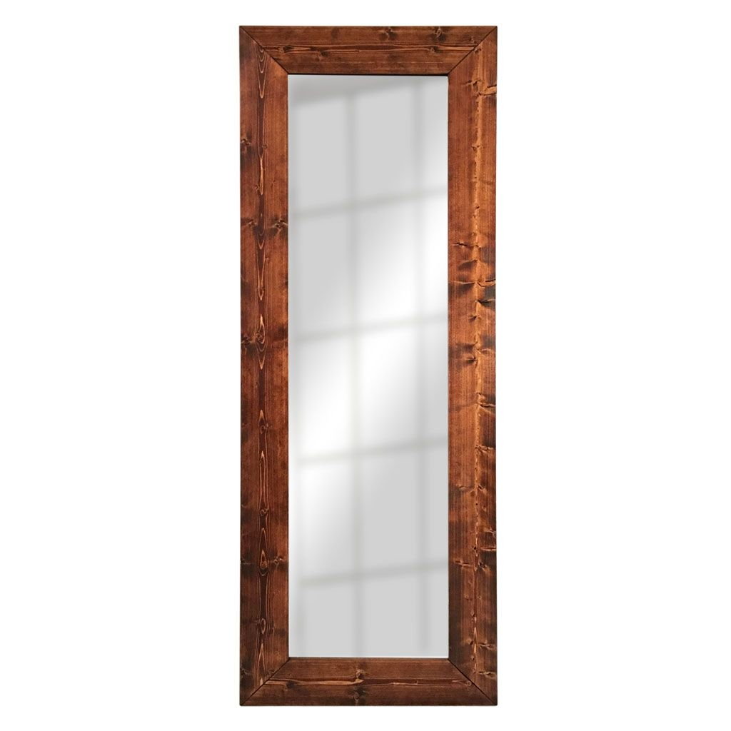 Buy a custom made floor mirror solid wood full length for Wood floor length mirror