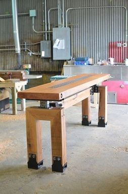 Custom Made Industrial Farmhouse Post & Beam Pub Table