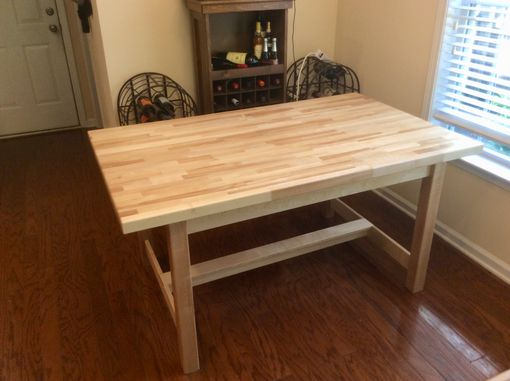 Custom Made Birch Butcher Block Dining Table