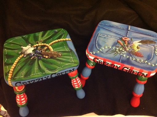 Custom Made Create Your Own Custom Hand Painted Footstool