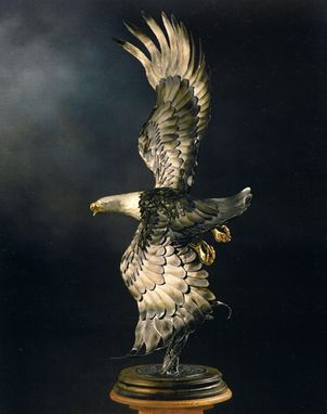 Custom Made Metal Sculpture - Eagle For Us Thunderbirds