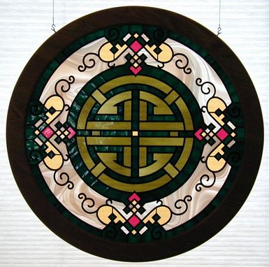 Custom Made Luck - Chinese Character In Stained Glass