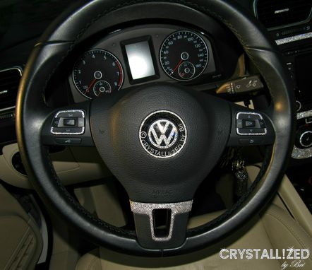 Custom Made Custom Crystallized Car Steering Wheel Made With Swarovski Crystals