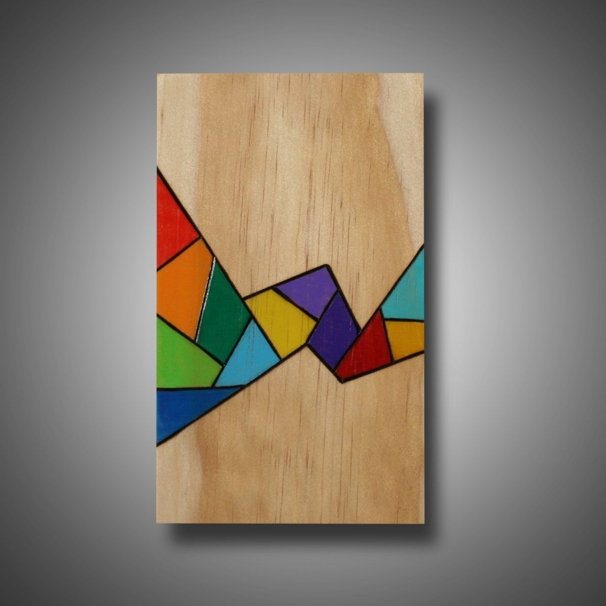 Color art colored pencils - Custom Made Pyrography And Colored Pencil Abstract Art On Small Pine Panel Small Wonder