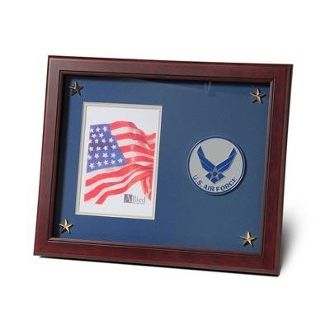 Custom Made Aim High Air Force Medallion Picture Frame 5 By 7