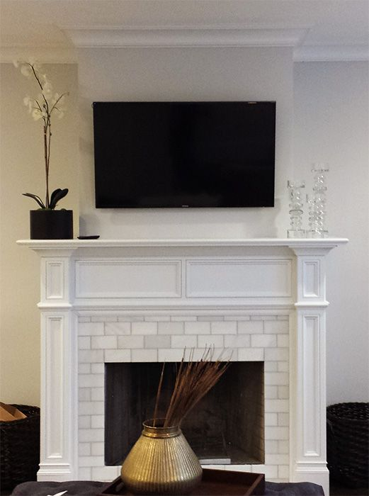 Custom Made Modern Fresno Fireplace Wood Mantel