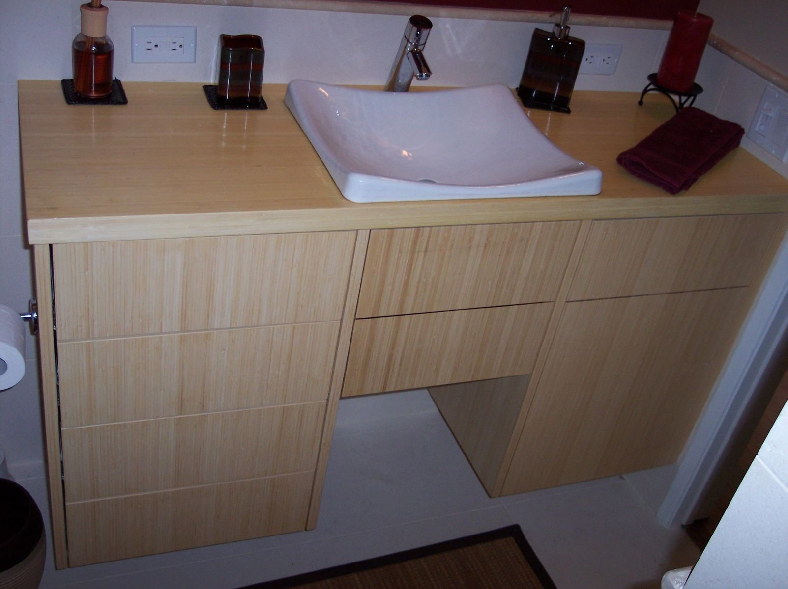 Custom Bamboo Bathroom Vanity By Mc Keown Design