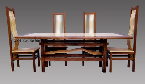 Custom Made Dining Table With Eight Chairs (Four Chairs Shown)