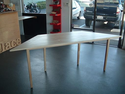 Custom Made Blake's Hard Maple Trapezoidtable For Bay Window