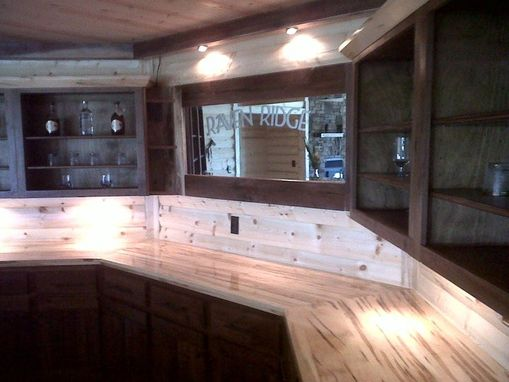 Custom Made Walnut Bar With Ambrosia Maple Counter Top