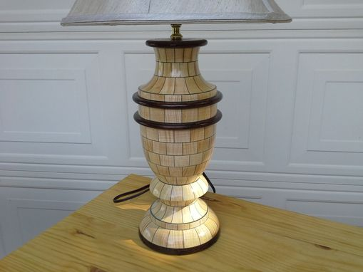 Custom Made Woodturned Small Table Lamp