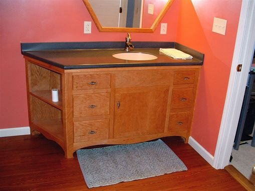 crafted custom vanity by xtreme woodgrains 11144