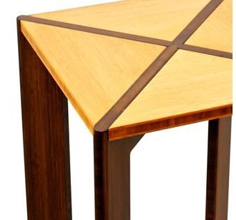 Custom Made Square Bamboo End Table