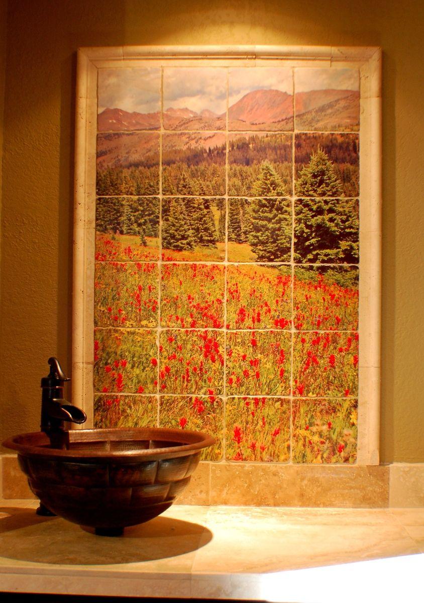 - Handmade Custom Backsplash By Rocky Mountain Tile Photography Co