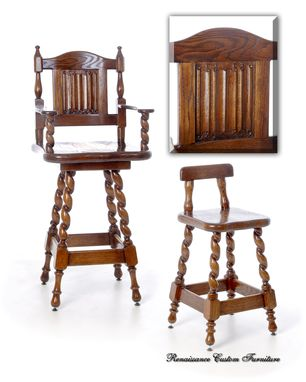Custom Made #1305 Swivel Oak Barstools