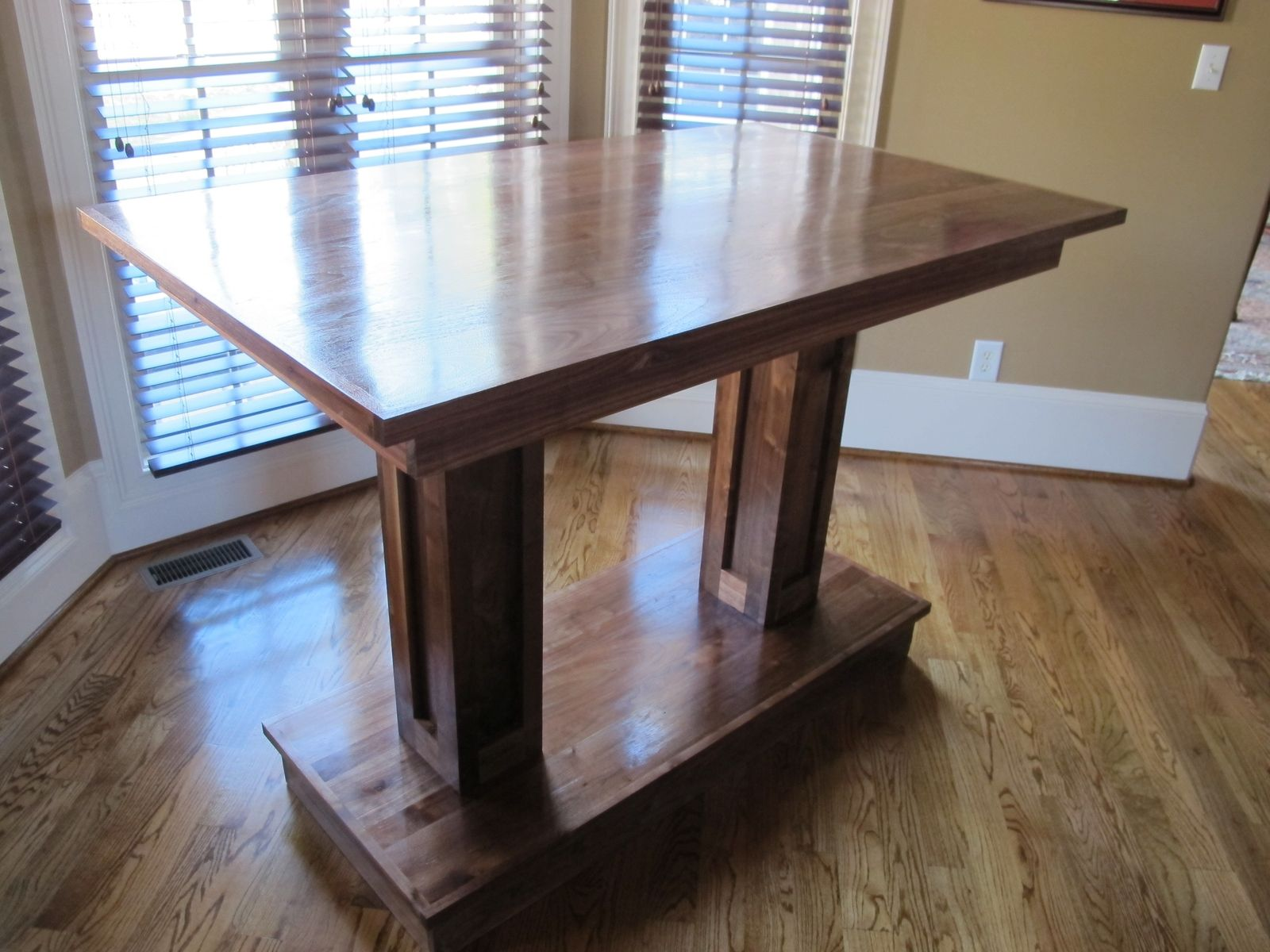 Buy a handmade solid wood pub table made to order from carolina woodworking Wooden furniture canada