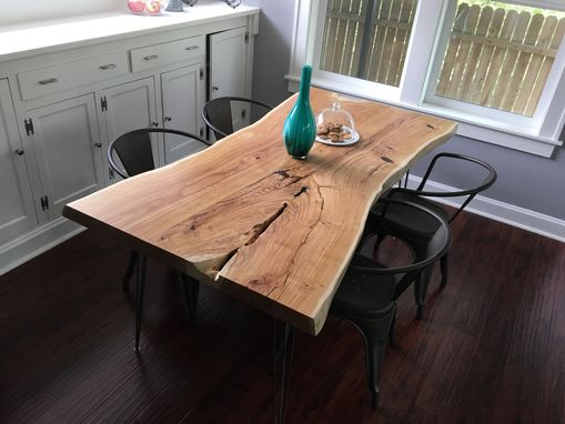 Custom Made Live Edge Honey Locust Dining Room Table