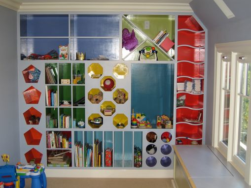 Custom Made Playroom Storage Cubbies